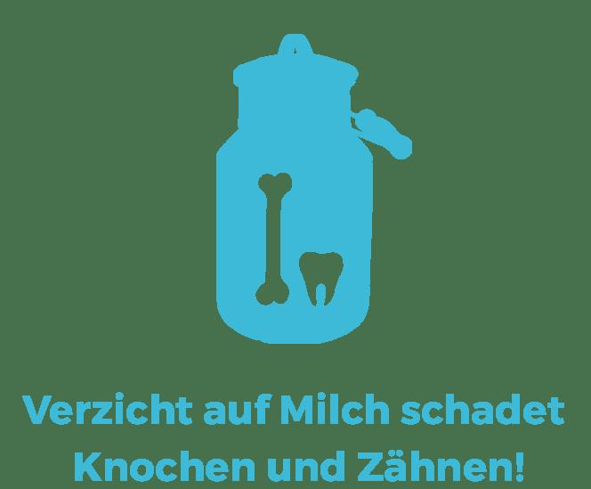 Vegane Mythen: Verzicht auf Milch schadet Knochen und Zähnen!
