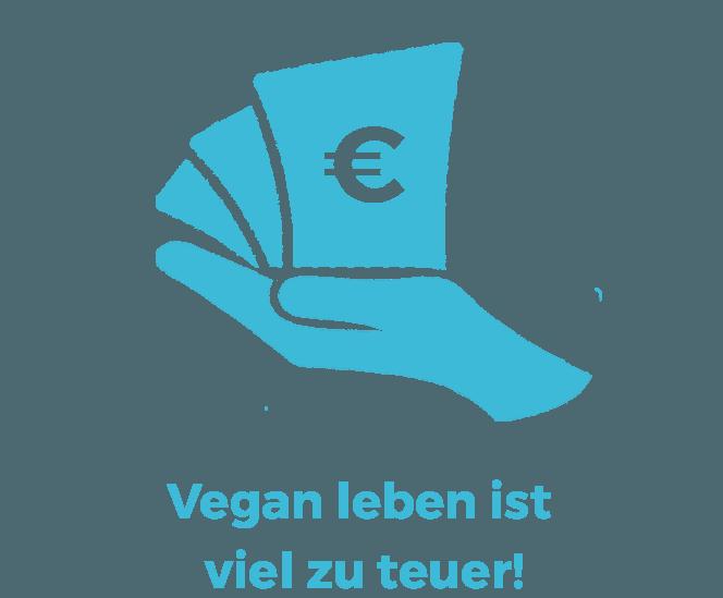 Vegane Mythen: Vegan leben ist viel zu teuer!