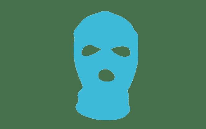 Strumpfmaske zur Illustration des Vorurteils, ein Vegan Lebensstil sei extrem