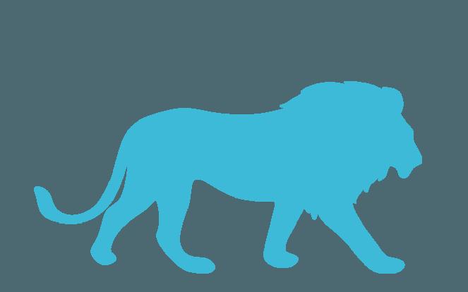 Löwe zur Visualisierung der Aussage, dass der Löwe ja schließlich auch andere Tiere isst