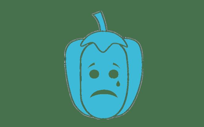 Weinende Paprika zur Illustration des Mythos, dass Pflanzen auch Gefühle haben!