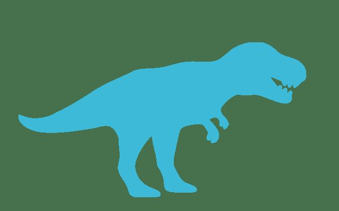 Tyrannosaurus zur Illustration des weit verbreiterten Mythos, dass wir Eckzähne haben und daher Raubtiere sind