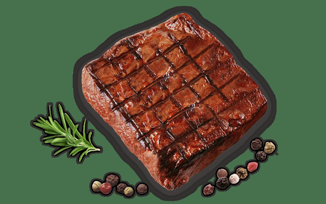 Steak mit eingebranntem Bingo-Muster