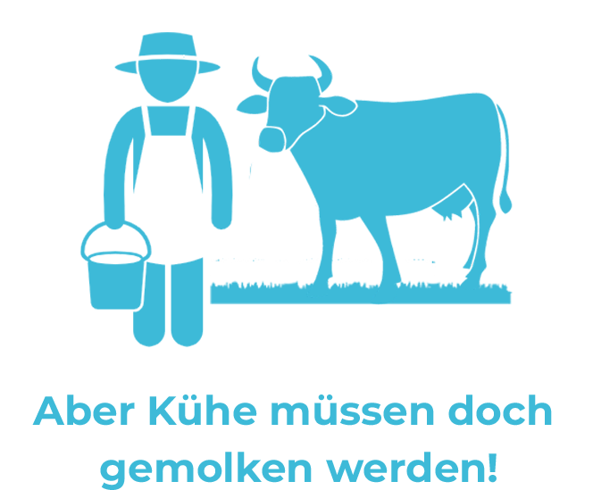 Vegane Mythen: Aber Kühe müssen doch gemolken werden!