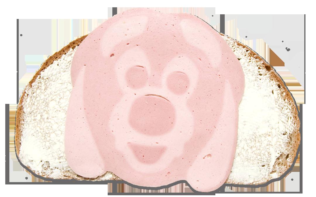 Butterstulle mit Gesichtswurst